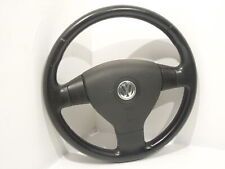 VW Passat B6 3 Spoke Sport Black Leather Steering Wheel  1K0419091BR