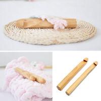 1X Jumbo Big Bamboo Handle Crochet Hook Knit Weave Yarn Craft Knitting Needles