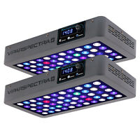 VIPARSPECTRA Timer Control 2pcs165W LED Aquarium Light For Coral Reef Fish Tank