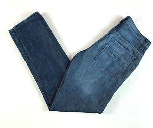 """PD & C Blue Designer Men's Jeans Actual Size W32"""" L32"""" PD&C"""