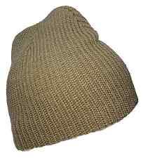 Khaki Tan Watch Style 8 Inch Fashion Design Knit Beanie Ski Cap Caps Hat Hats