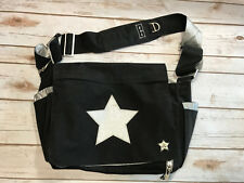 Ju-Ju-Be Be Unique Be All Star Classic Messenger Diaper Bag Black Silver Unisex