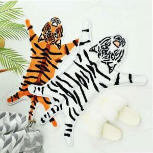 Tiger Printed Mat Skin Hide  Leather Faux Fur Animal Home Carpet  Area Rugs Cute