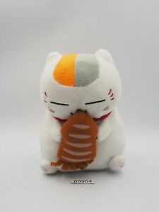 """Natsume Yuujinchou B0904 Madara Nyanko-sensei Cat Banpresto 2013 Plush 5.5"""" Toy"""