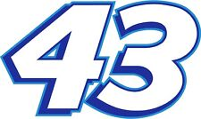 NEW FOR 2018 #43 Bubba Wallace Racing Sticker Decal - Sm thru XL - various color