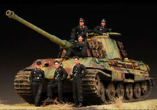 Award Winner Built Dragon 1/35 German King Tiger Heavy Tank Diorama +Crew +PE