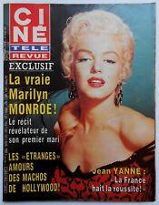 ►CINE REVUE 17/1985-MARILYN MONROE-JM THIBAULT-CHARLES BICKFORD-GRETA GARBO-HUGO