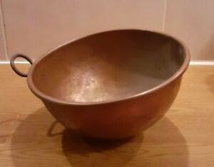Divertimenti Hammered Solid Copper Egg Whisking Mixing Bowl Pot Metal