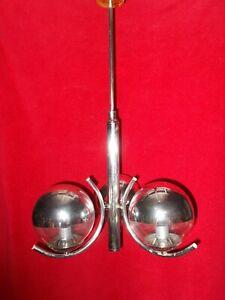 Lustre années 70' / 80' Chromé 3 eclairages miroirs  vintage