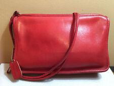 Vtg Coach Shoulder Bag Lipstick Red Leather Thin Rectangle Bonnie Cashin Era
