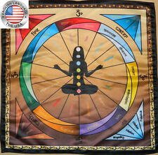 Chakra tablecloth for pendulum