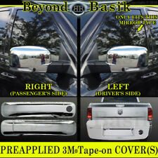 For 2009-2012 DODGE RAM 1500 Chrome Door Handle COVERS W/O PKH+Mirrors+Tailgate