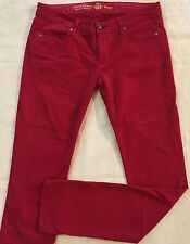 Women's Rich & Skinny Red Skinny Stretch Jeans Size 28 Made In USA CUTE