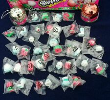 SHOPKINS ✰CHRISTMAS 2015 METALLIC BAUBLE ORNAMENT✰ COMPLETE SET 36 -FIGURES ONLY