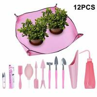 12Pcs Gardening Mini Garden Hand Transplanting Succulent Tool DIY Plant Kit Pink