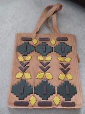 Latico Ladies Women's Brown Beige Leather Handbag Tote