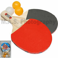 2 PING PONG PADDLE TABLE TENNIS BAT REGULAR SIZE - GREAT DRISTRACTION FOR KIDS!