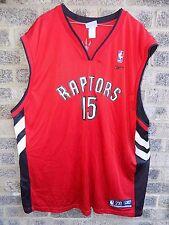 Vintage Toronto RAPTORS Noir Rouge Blanc Jersey Vest #15 Vince Carter Reebok