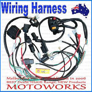 Full Electrics wiring harness CDI coil 200cc 250cc ATV Quad Bike Buggy Gokart 5