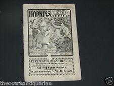 Hopkins Imperial Theatre Program St Louis 1899 Samuel Gumpertz Fauntleroy