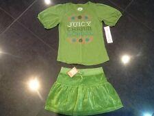 NWT JUICY COUTURE Nuevo & Gen. niña Edad 8 Verde Velour Falda & Camiseta