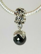 Authentic Pandora Garden Odyssey, Black Spinel & Grey Charm #790858SPB *RETIRED*