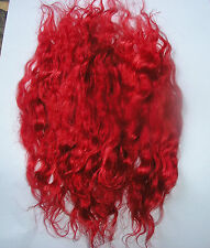 WIG WEFT MOHAIR DOLL BLYTHE WALDORF THEATRE SPECIAL EFFECTS - RACY RED 10GRMS
