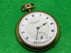 Thomas Russell & Son Liverpool 15 Jewels Gold Plated Pocket Watch