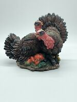 Thanksgiving Turkey Pair K's Collection Painted Resin Figurine