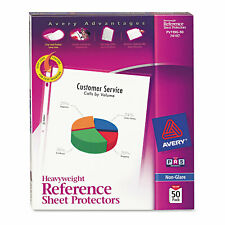 Avery Top Load Poly Sheet Protectors Heavy Gauge Letter Nonglare 50box 74107