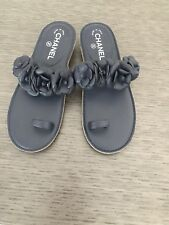 Chanel Camelia Brand New Flat Sandal