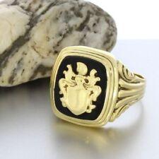 Ringe mit Edelsteinen im Siegelring-Stil echten Onyx