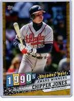 Chipper Jones 2020 Topps Decades Best 5x7 Gold #DB-67 /10 Braves