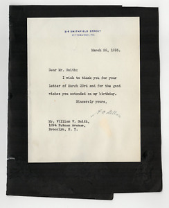 Andrew Mellon signed autographed letter! RARE! Guaranteed Authentic!