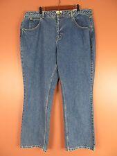 PNS0646- NEW TALBOTS Woman 100% Cotton Denim Jean Classic Fit Pants Blue SZ 22W
