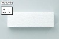 10 STYROFOAM INSERTS NINTENDO FOR NES BOXES