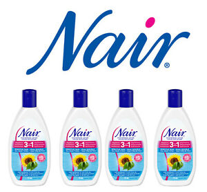 4 Nair Hair Remover Lotion Shower Power Sunflower Seed Oil Sensitive 3 In 1 Lot