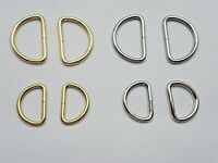6 STAINLESS STEEL D RINGS METAL WEBBING LEATHERCRAFT BUCKLES CURTAINS
