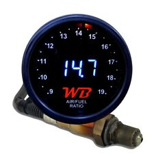 APSX D2 Digital Wideband O2 Air Fuel Ratio Controller Gauge Kit (Black-White)