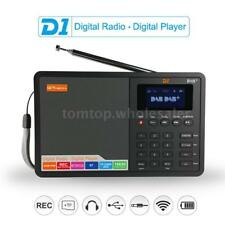 Portable Digital DAB+ FM Radio RDS DRC Receiver BT Stereo w/3.5mm Earphone Jack