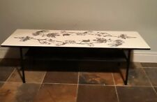 Mid Century Terence Conran Style Formica Top Coffee Table with a leaf motif.