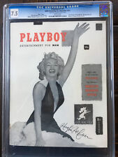 1953 PLAYBOY #1 Issue #1 7.5 CGC SIGNED BY HUGH HEFNER PSA/DNA -MARILYN MONROE