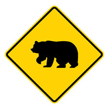Personalized Campground Location Name ENSA1002287 Bear Crossing Vertical Sign