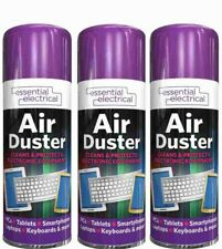 More details for 3 x compressed air duster spray can cleaner dust blower laptop computer keyboard