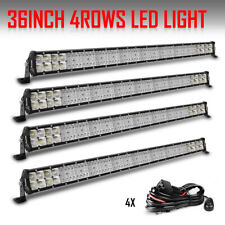 "4PCS QUAD-ROW 36"" Inch 4992W LED Light Bar Combo OFFROAD For Jeep Ford ATV UTV"