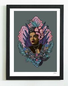 Billie Holiday Singer Black Queen Soul Sister Artist Art Print By Msdre