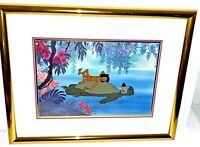 Rare Disney Jungle Book Cel Floating Down The River Animation Art Edition Cell