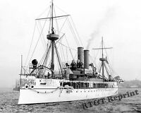 Historical Photograph of the US Navy Battleship USS Maine  Year 1897c  11x14