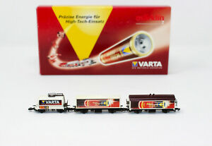 Z Scale Marklin VARTA Batteries - 3 Freight Cars Set (3 Cars) NIB