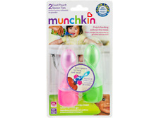 Munchkin Click Lock Food Pouch Spoon Tips - Pink & Green Brand New Sealed